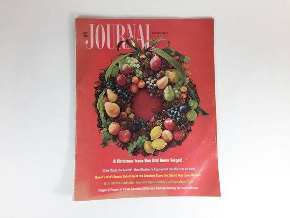 vintage christmas ladies home journal magazine 1960s decor ideas food fashion gift ideas holiday decor retro
