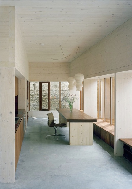 so clear ! ... Hugh Strange Architects, House in London, laminated cross-boarded timber.