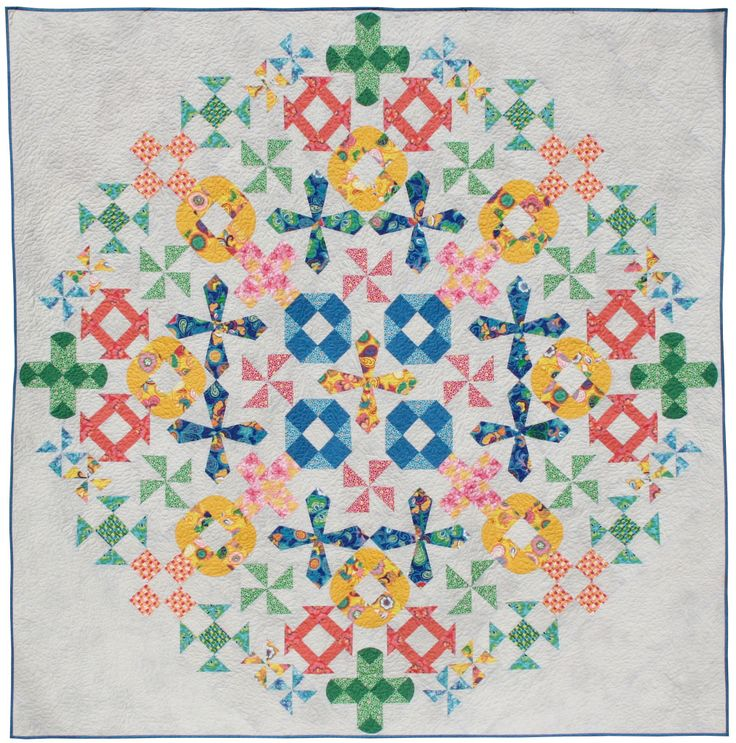 Spring Bouquet Quilt by Better Off Thread featuring Spring Bloom Fabric by Bella Caronia for Windham Fabrics