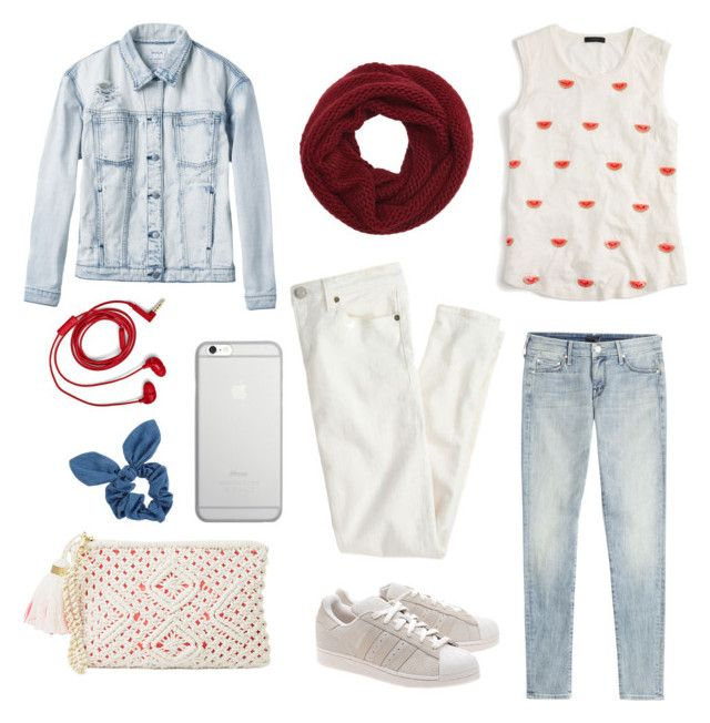 """Red ish"" by julimoli27 on Polyvore featuring moda, RVCA, J.Crew, adidas Originals, Wyatt, Mother, Lilly Pulitzer, FOSSIL, Native Union y Dorothy Perkins"