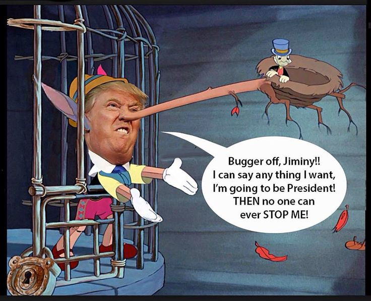 A cartoon featuring Trump as Pinocchio, by Terry Gilliam ...