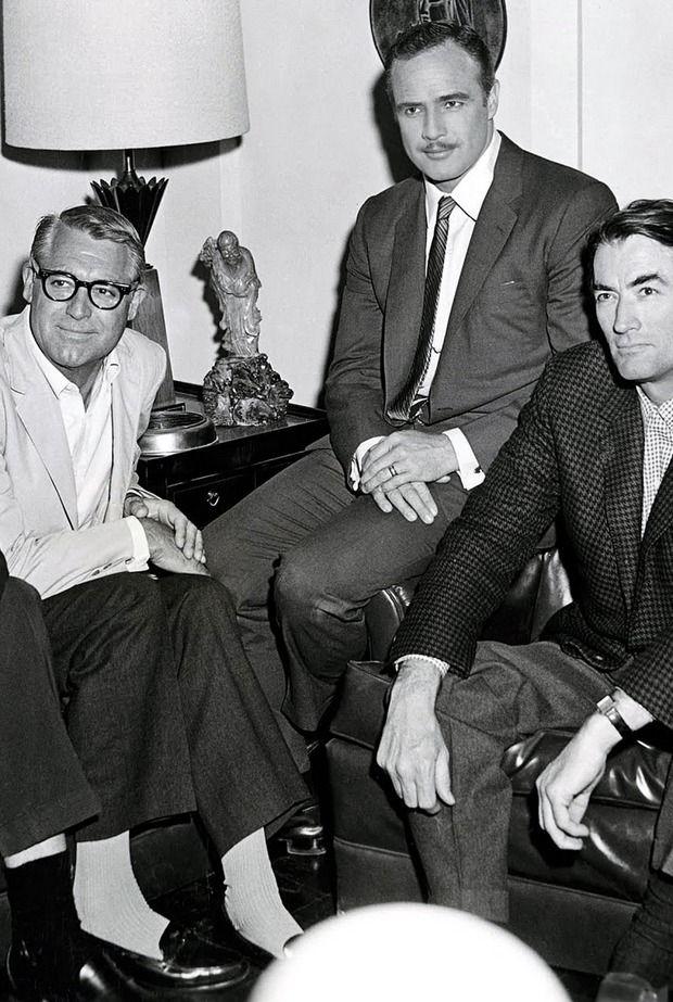 Cary Grant, Marlon Brando & Gregory Peck