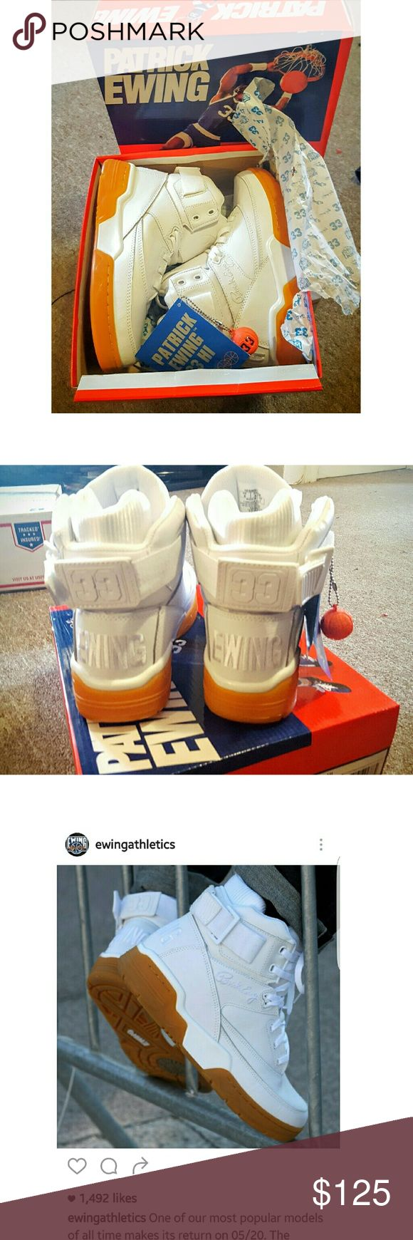 Patrick Ewing 🏀 33 Hi White gum Authentic💯bought them direct from flight club in NYC. Used one time only for 1 hour. Excellent condition 👌Like new. If you have any  questions feel free to contact me!    Offers Welcome !   🛇no trades🚫 Patrick Ewing  Shoes Sneakers