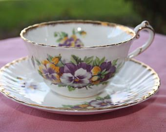 Victoria C&E Bone China Teacup and Saucer