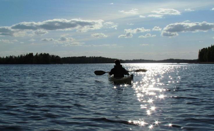 Canoing at Lake Saimaa, Savonlinna.