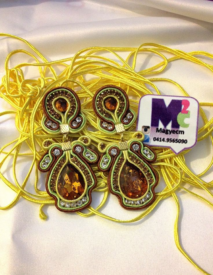 Zarcillos de soutache Accesorios M2C  Venezuela +584149565090 #soutache #hechamano