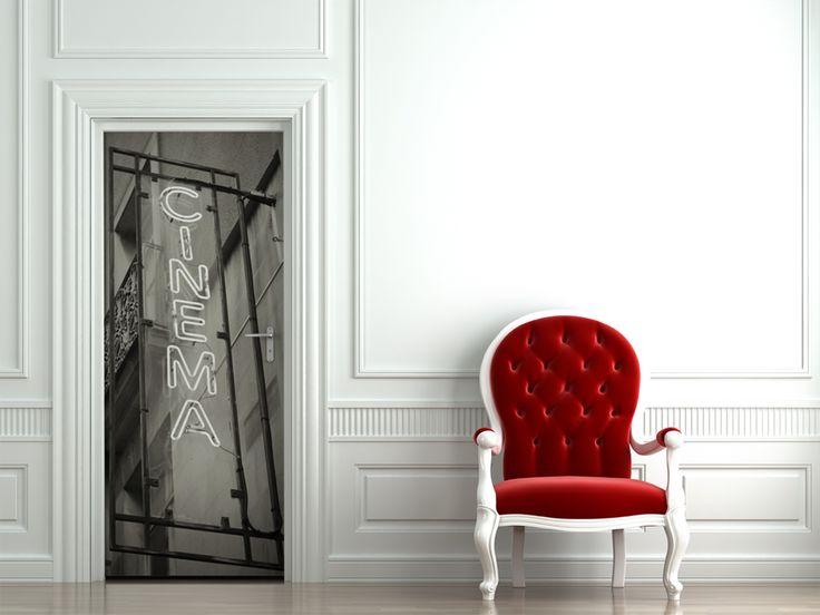 25 best ideas about door murals on pinterest painted - Stickers cinema mural ...