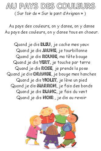 """Comptinettes : """"Au pays des couleurs"""" - Les p'tites décos de Lolo"""