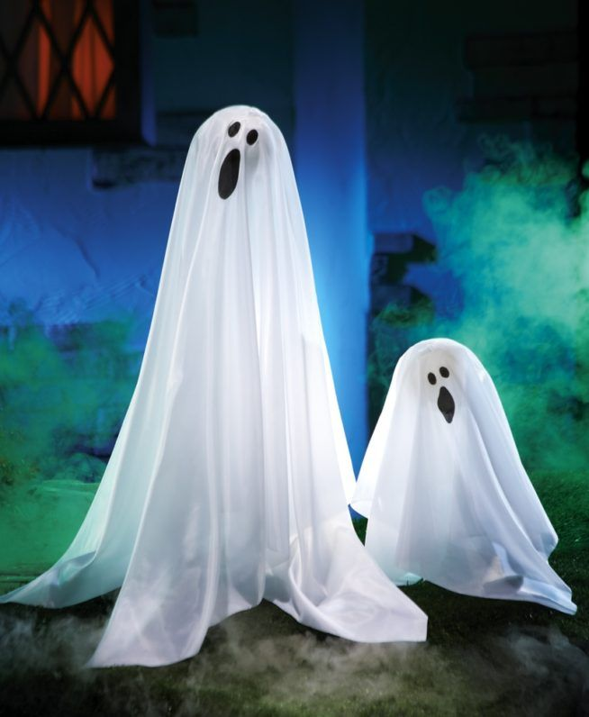 40 funny scary halloween ghost decorations ideas yard for Ghost decoration ideas
