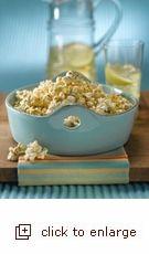 White Cheddar Popcorn ~ Use Wabash Valley Farms White cheddar Seasoning (salt is optional)...YUM!
