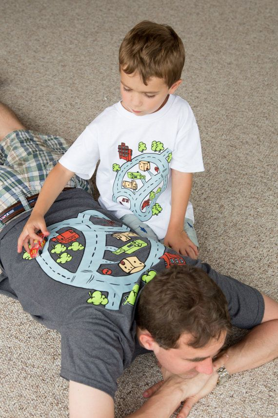 Gift From Kids For Dad Race Track Playmat T Shirt Father And Son Matching Shirts Great S Birthday New Grandpa Uncle