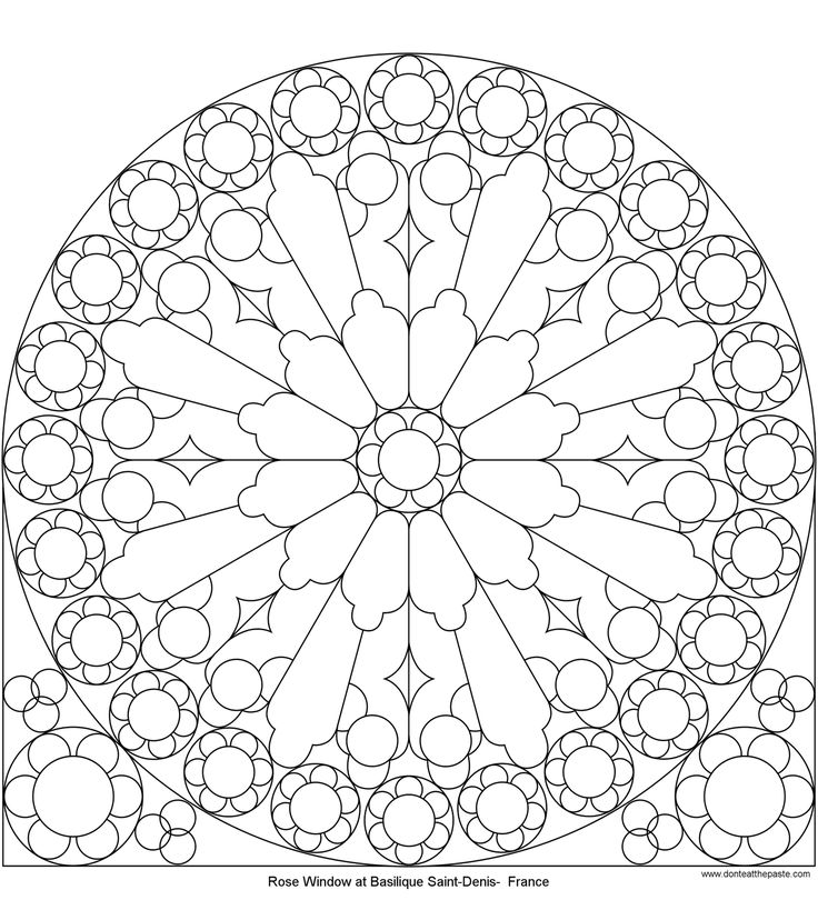 rose mandala picture to color stained glass window mandala coloring pages pattern mandala - Arts And Crafts Coloring Pages