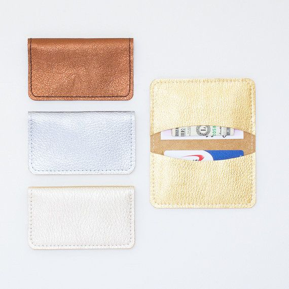 This listing is for one credit card wallet. Please choose color choice from the drop down menu.  These credit card, business card, ID and cash