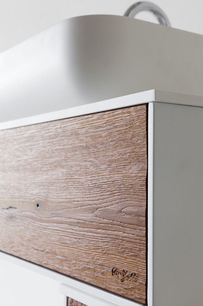 mobile da bagno moderno in rovere termotrattato modern bathroom furniture heat treated oak