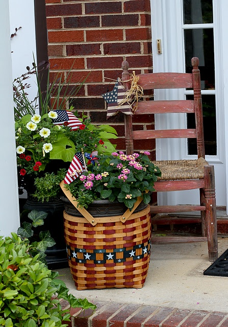 218 Best Red White And Blue Decorating Images On Pinterest Porch Decorating For The Home And