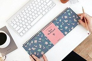A weekly planner you can use as a wrist rest in front of your keyboard. | 21…