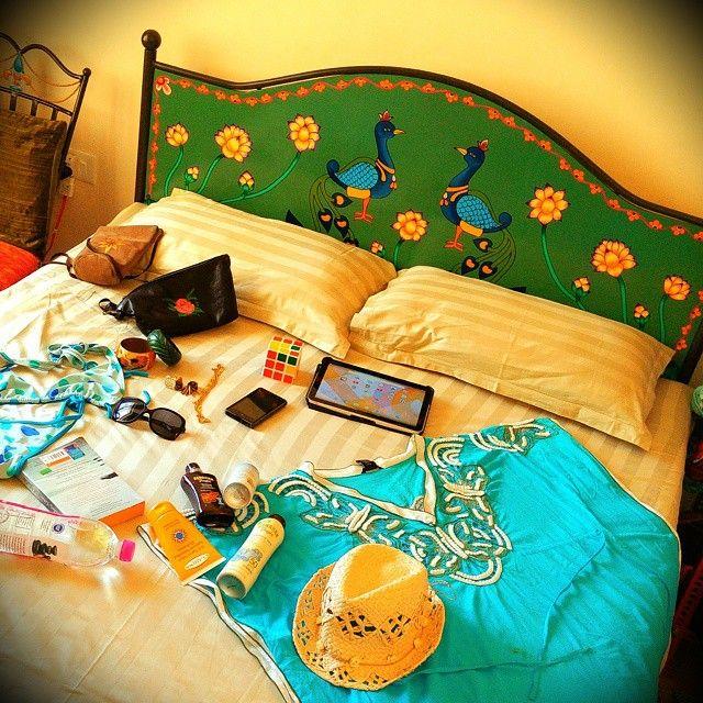 #beach.. @home #Goa #paradise #birds #bed #headboard #unique #bespoke #handpainted #fashion #lifestyle #accessory #designer #fashionista #dreamer #accessories #accessorize #art #artist #design #decor #flukedesign #handpaint #handcraft #handcrafted #limitededition
