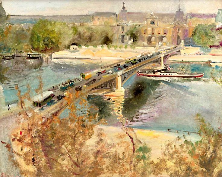 Lucien ADRION Le Pont Du Carrousel