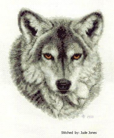 Wild Animal Cross Stitch Patterns Free   Grey Wolf Cross Stitch Pattern animals