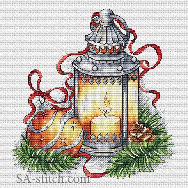 Фонарь с желтым шаром | SA-stitch