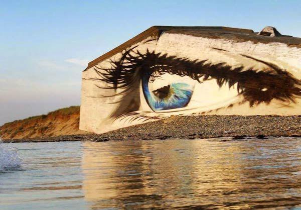 Obra hiperrealista que te invita contemplar su detallado diseño creado en Francia por el artista urbano Aerosoleil.