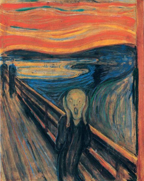 """Edvard Munch, """"El grito"""", 1893, Museo Nacional de Noruega, Oslo"""
