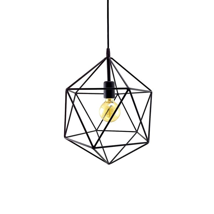 Geometric Pendant Light Handmade Hanging Light Cage Polyhedron