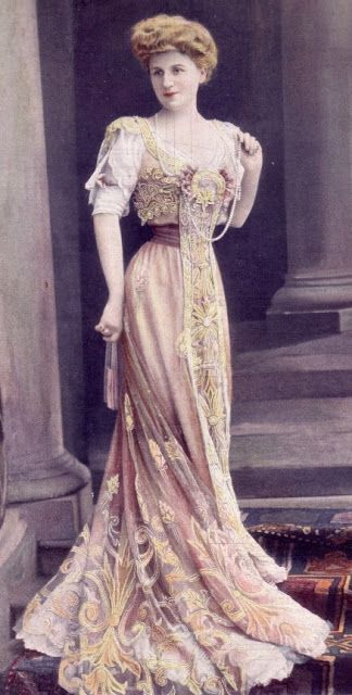 Corsetted victorian fashion at it most intriguing, and look at that lacework