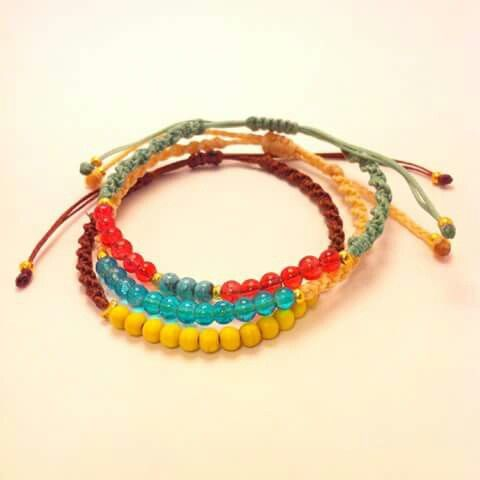 Colorful macrame bracelets #my_armcandy
