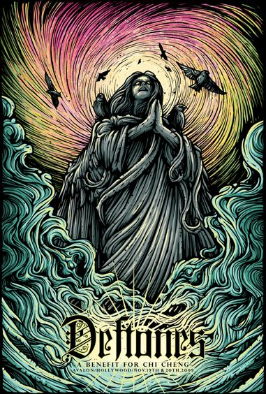 Poster by Dan Mumford (Benefit show for Chi Cheng)