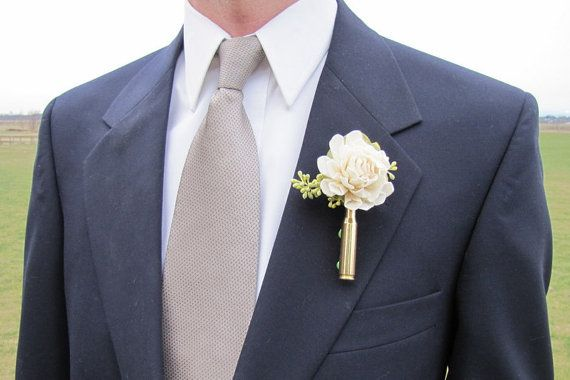 These fun boutonnieres are perfect for the guy who wants something unique and masculine. THE LISTING IS FOR ONE OF THE ABOVE BOUTONNIERES.