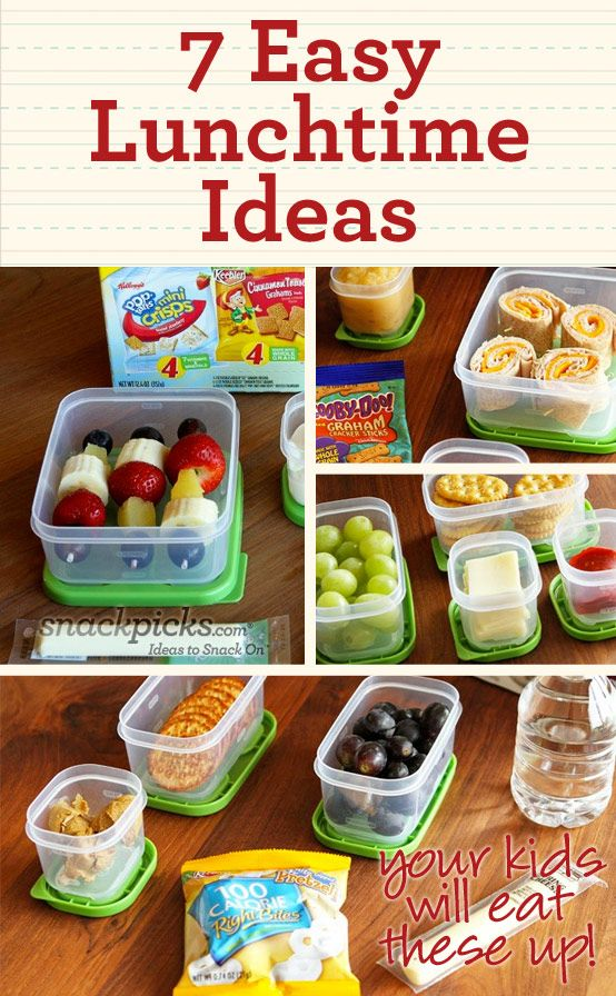7 Simple Lunchtime Ideas, that would require your child to eat of course.