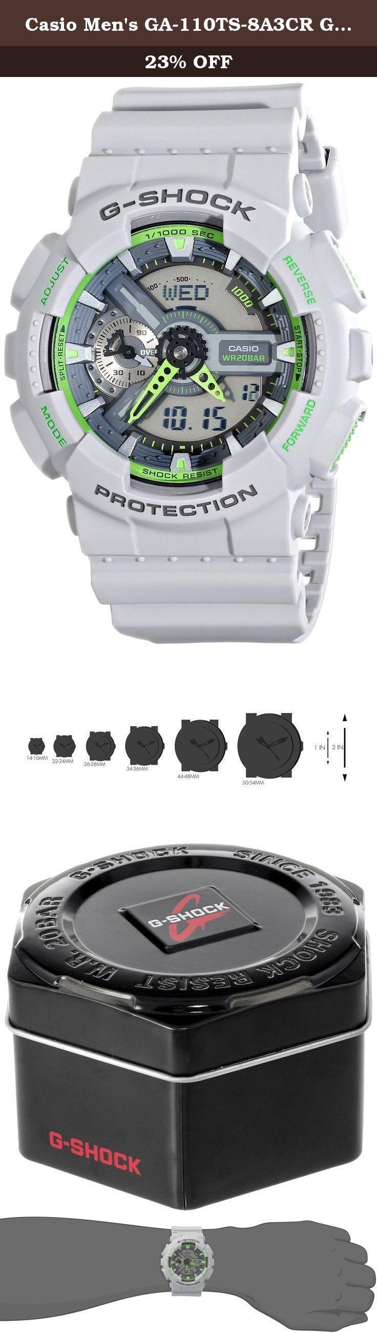 casio mens ga 110ts 8a3cr g shock grey watch shock resistant