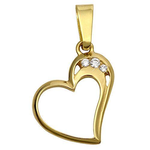 Brilio O inimă din aur cu zirconiu 249 001 00366 - 0,95 g