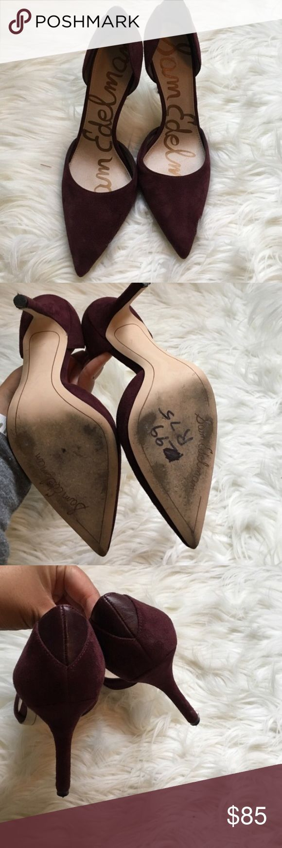 Sam Edelman Maroon Pumps Brand new worn one Sam Edelman Wine Maroon Pumps. As shown in the picture the sole has some scuffs but otherwise look very new. Size 7.5 Sam Edelman Shoes Heels