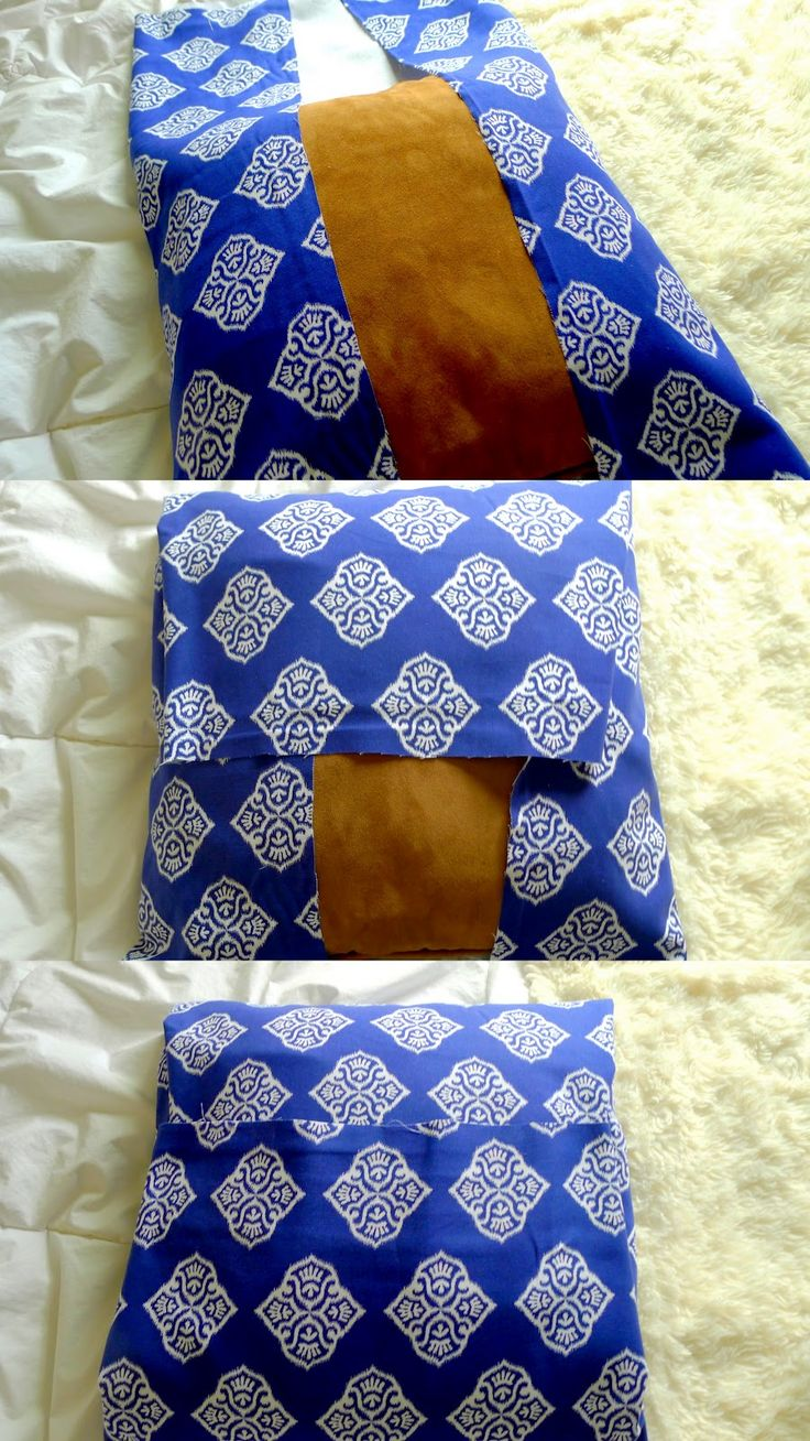 Easiest, cheapest way to cover old pillows, great for temporary looks