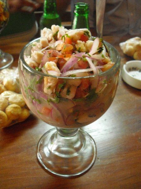 Ceviche de El Salvador.. This has been the best I've ever tried :)