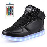 AFFINEST Kinderschuhe High Top LED aufladen Schuhe blinken Fashion Sneakers for boys girls
