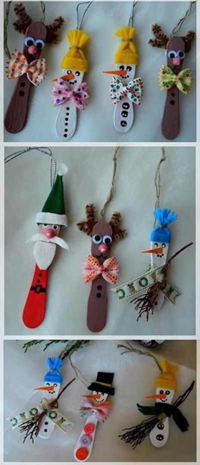 Popsicle stick Christmas/Holiday ornaments - Children's Dental Specialist | #Carson | #CA | www.childrensdentistsouthbay.com