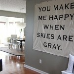 Would love to DIY a hanging sign like this for our hallway. Let the quote search begin. #DIY