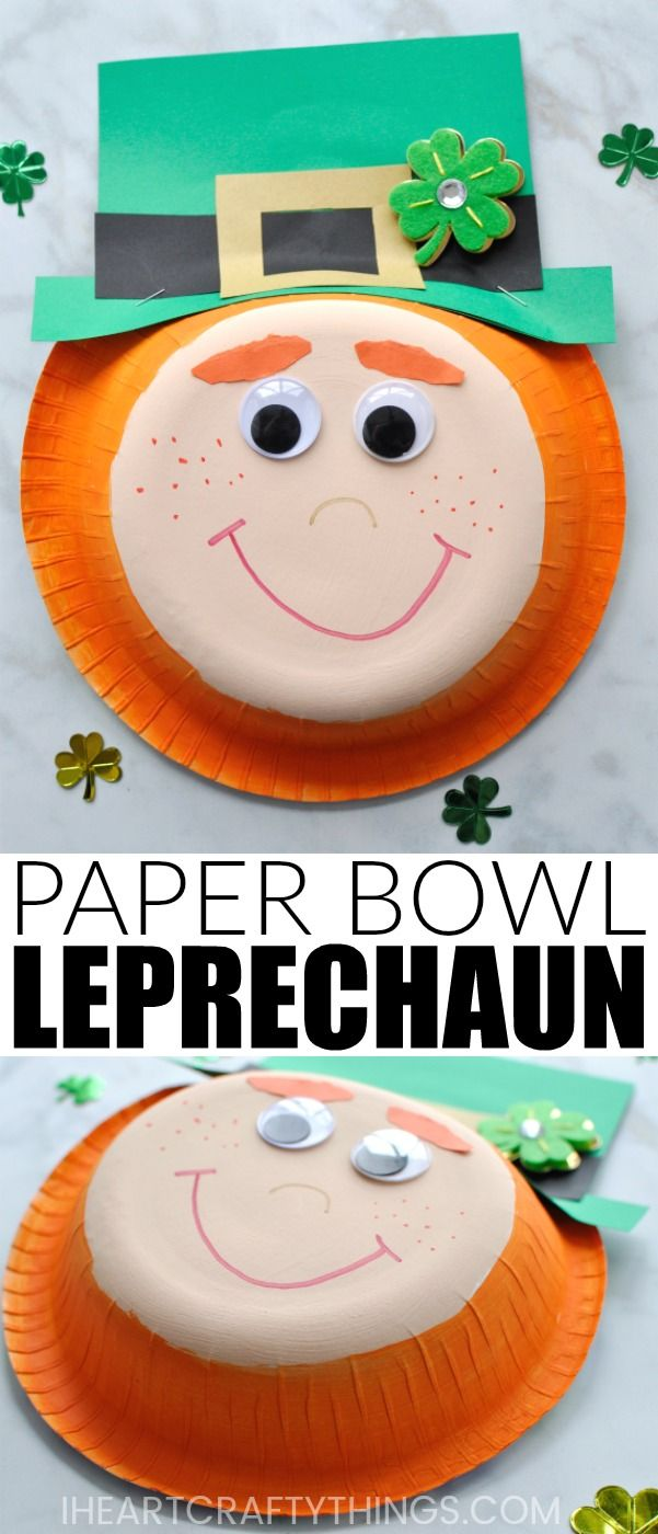 Easy Paper Bowl Leprechaun Craft | I Heart Crafty Things