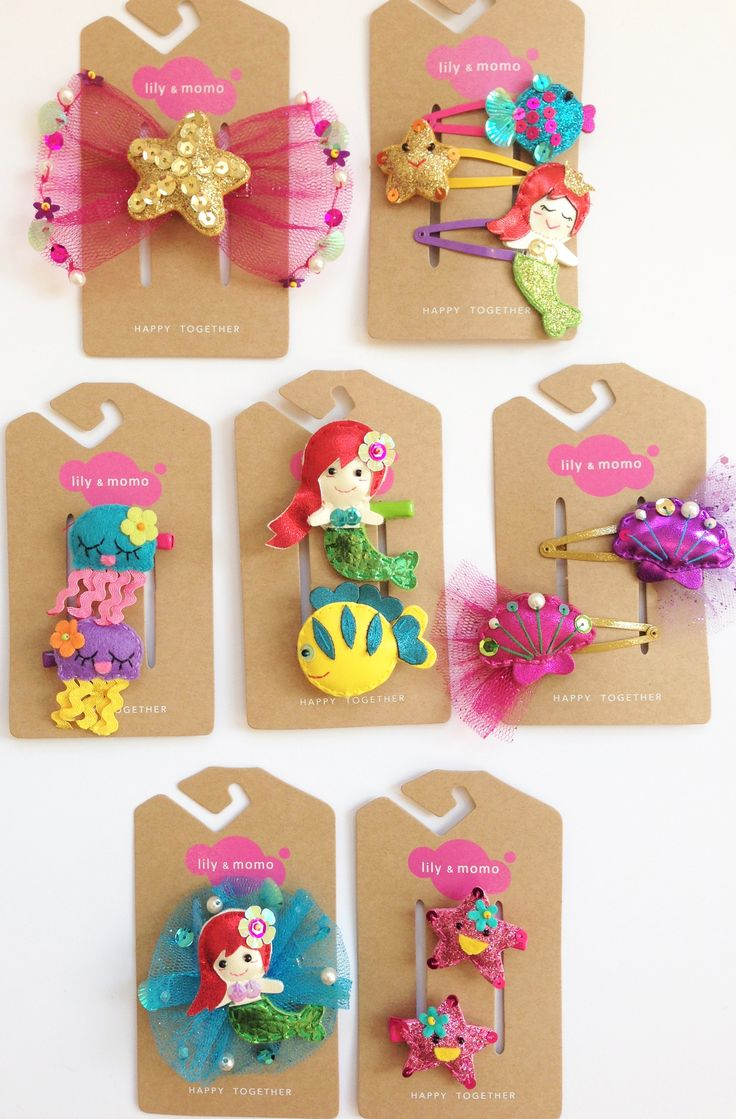Under the Sea hair clip collection from Lily and Momo. #socute #underthesea