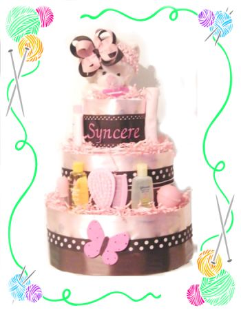 Infants First Head Band Diaper Cake