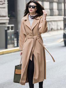 c89af6c05133 Manteau femme 2018 Manteau femme hiver en laine fendu manteau longue revers  cranté   Clothes   Pinterest   Coats, Wraps and Winter