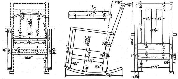 Rocking Chair Plans Diy Rocking Chair Mission Furniture