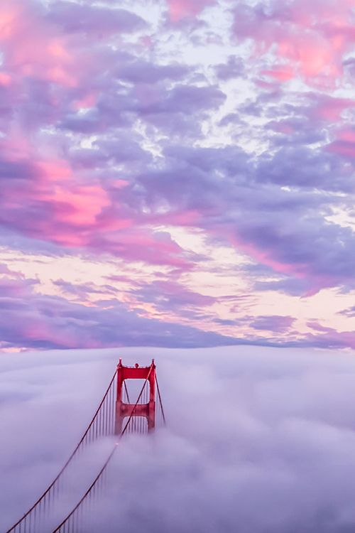 Heaven Sunset, GGB, San Francisco, by Dave Gordon, on 500px. - Explore the World with Travel Nerd Nici, one Country at a Time. http://TravelNerdNici.com