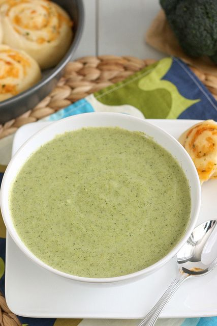 Lightened Up Broccoli-Cheddar Soup by Traceys Culinary Adventures