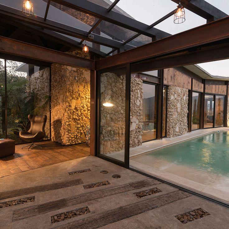 Casa Gozu - Vista interior a exterior