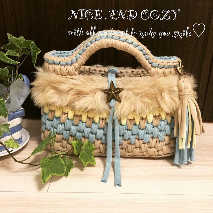 いいね!74件、コメント13件 ― NICE AND COZYさん(@niceandcozygallery)のInstagramアカウント: 「最終的に、#秋冬仕様 #ペットボトル入ります #長財布入ります #トートバッグ #monopop #maum #hoookedzpagetti #handmade #crochet…」