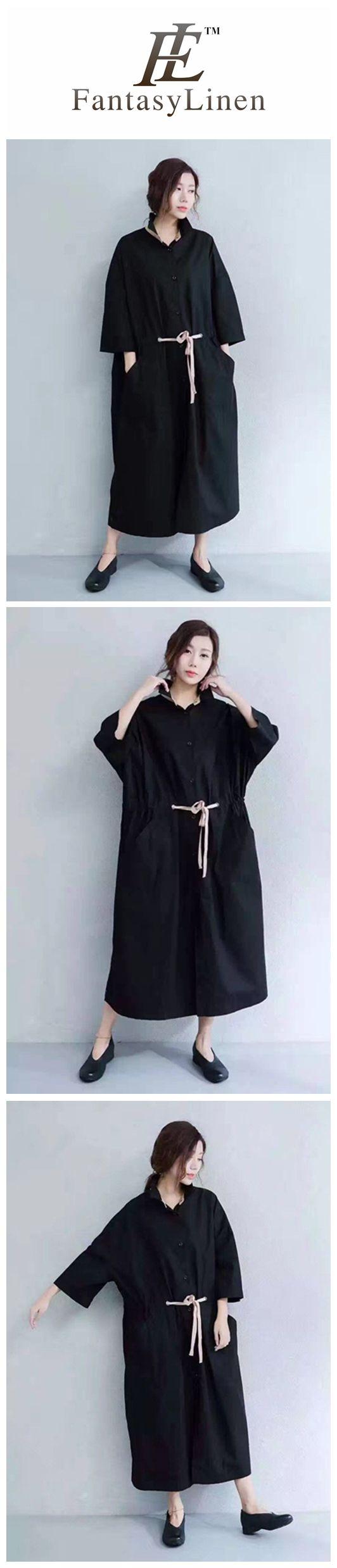 Black Casual Big Size Coat Women Clothes Z1842